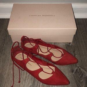 Loeffler Randall Shoes - Host Pick 🎉 Red Loeffler Randall Flats! 💄